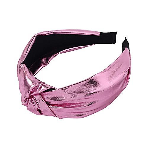Tony plate Bandeau Coréen À La Mode Lumineux Couleur en Cuir Filles Bandeaux Cheveux Bandeaux Noués Moyen Bandeau De Mode Head Hoop Femmes Cheveux Accessoires-Rose