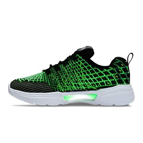 Idea Frames Schuhe mit LED-Licht, Glasfaser-Optik für Damen und Herren, USB-Aufladung, modischer Sneaker