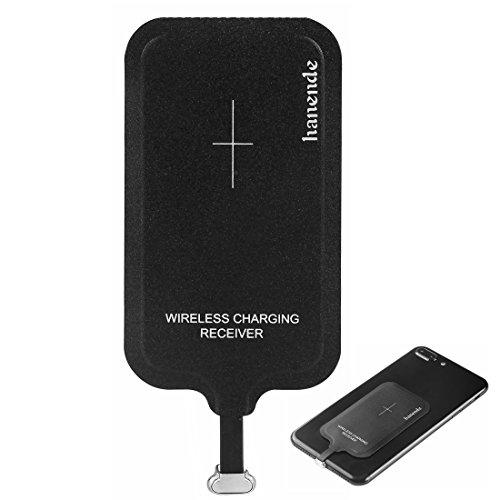 hanende Receptor de Carga Inalámbrico Micro USB Receptor de Carga inalámbrico Qi Chip de módulo de Parche para Samsung A8, Huawei Mate8 y Otros teléfonos con Interfaz Micro USB [Lado EST