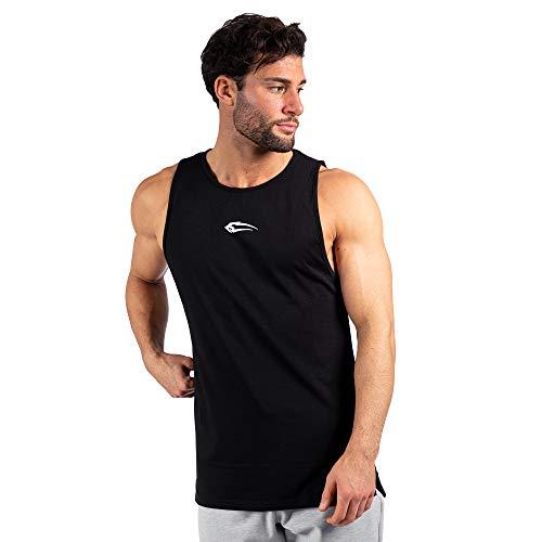 SMILODOX Herren Tank Top Hayward Sport Fitness Gym Freizeit Trainingsshirt Sporttop, Farbe:Schwarz, Größe:XXXL