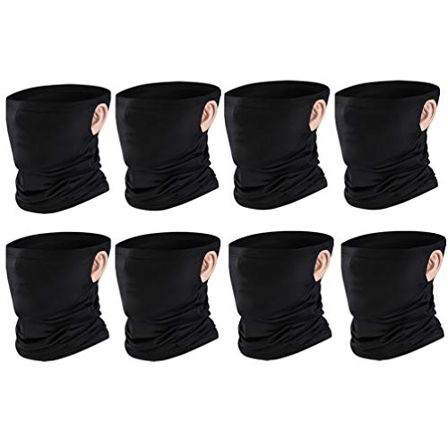 Multi Pack Cooling Neck Gaiter Ear Loops Face Cover UV Protection Sports Balaclavas for Men Women