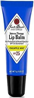 Jack Black Jack Black - Intense Therapy Lip Balm SPF 25, 0.25 fl oz - Green Tea Antioxidants, Long Lasting Treatment, Broad-Spectrum UVA and UVB Protection, Pineapple Mint Flavor, 0.25 oz.