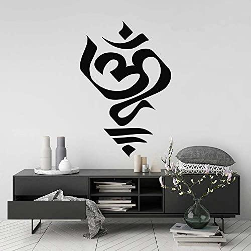 Pegatinas de pared Mandala Yoga pegatinas de pared decoración de habitación espiritual símbolos budistas calcomanías de vinilo extraíbles exquisita decoración del hogar