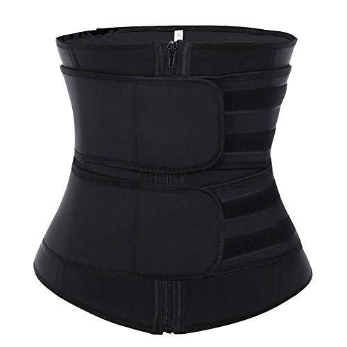 Damen Workout & Trainingswesten, Damen Body Shaper Hot Sweat Workout Tanktop Slimming Weste Saunahemd Neopren Compression Shapewear (Schwarz, L/XL)