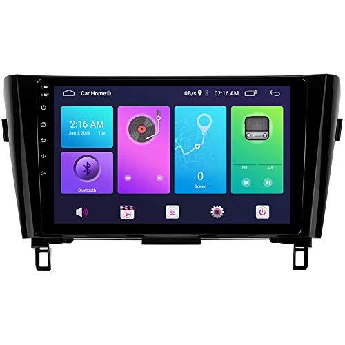 Android Car Stereo Sat Nav para Nissan X-Trail Qashqai Rogue 2014-2020 Unidad Principal Sistema de navegación GPS SWC 4G WiFi BT USB Mirror Link Carplay Integrado