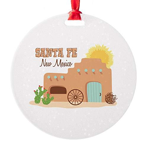 CafePress Santa FE New Mesico Ornament Round Christmas Ornament