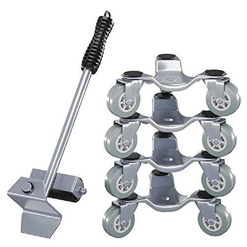 Herramienta para mover muebles - Deslizadores para muebles pesados - Juego de herramientas Easy Mover para muebles de oficina y hogar - Kit para mover objetos pesados