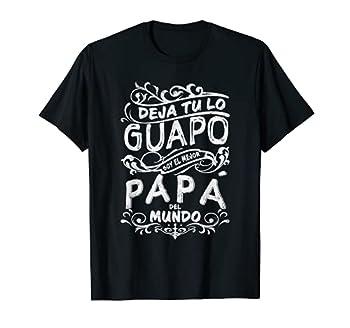 Mens Camisa de Hombre Mejor Papa del Mundo para Dia del Padre T-Shirt