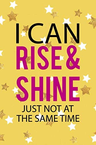 I Can Rise Shine Just Not At The Same Time Notebook Journal Composition Blank Lined Diary Notepad product image