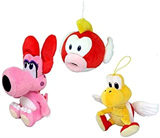 Mario Party Plush Doll Set of 3 Villains - Birdo - Cheep Cheep - Paratroopa [並行輸入品]