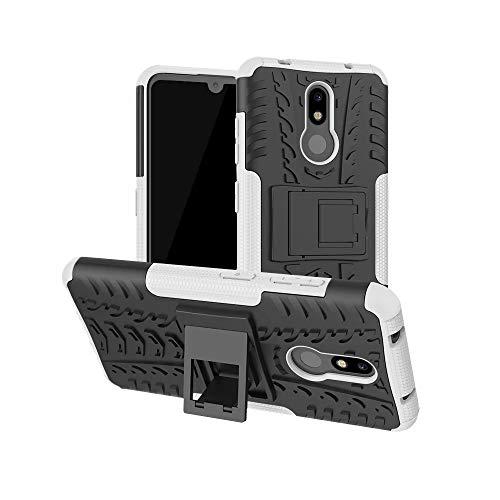 Custodia per Samsung Galaxy S30 Plus/S21 Plus, design 2 in 1, resistente, a doppio strato, antiurto, con supporto per Samsung Galaxy S30 Plus/S21 Plus, bianco