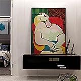 Picasso pintura mujer soñadora de Picasso impresiones en lienzo abstracto cuadros artísticos de pared carteles para la decoración de la sala de estar 42x60cm sin marco