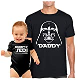 Texas Tees Gift for New Dad, Inspired by Star Wars Shirt Set, Jedi...