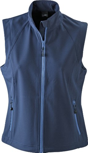 James & Nicholson Damen Jacke Softshellweste blau (navy) XX-Large