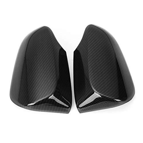 BLH-JMS Vista Trasera Alas Cubierta de Espejo, 2 unids/Conjunto de Estilo de Fibra de Carbono Coche Low ala Espejo Tapas de Cubierta para Toyota C-HR