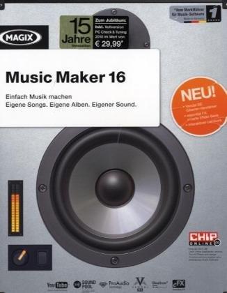 Magix Music Maker 16, 1 CD-ROM Einfach Musik machen. Eigene Songs. Eigene Alben. Eigener Sound. Für Windows XP, Vista, 7