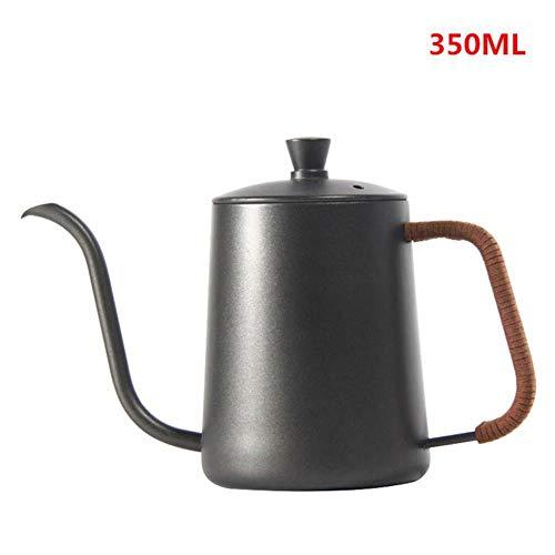 Druppelketel 350ml 600ml overgieten Koffie Theepotten Teflon Non-stick Food Grade RVS Zwanenhals Druppelketels Zwanenhals Dunne mond, geïsoleerd B 350ml