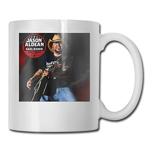 N\A Aldean Ride All Night Tour 2019 Live Nettv Taza de café Taza de cerámica Regalo de 11 oz para Hombres Mujeres Que aman Las Tazas