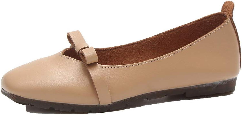 AllhqFashion Women's Solid Pu Low-Heels Pull-On Square-Toe Pumps-shoes,FBUDC015698
