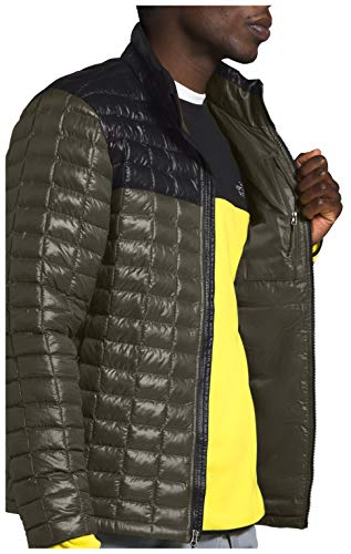 The North Face Men's Thermoball Eco Insulated Jacket - Fall or Winter Coat, New Taupe Green/TNF Black, S
