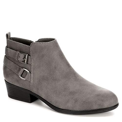Lauren Blakwell Stacie - Women's Low Heeled Short Dress Zip-up Ankle Boot, Size 9 Medium Grey