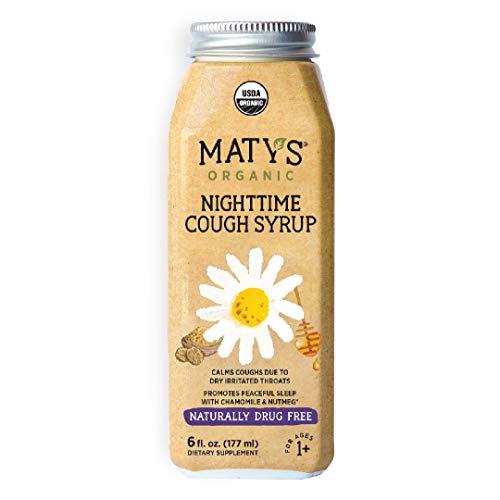 Maty's Organic Nighttime Cough Syrup, 6 fl oz, With Organic Honey, Chamomile & Nutmeg