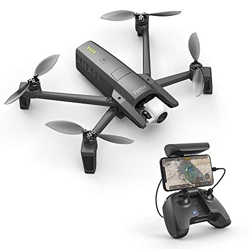 Parrot PF728000 ANAFI Drone, Foldable Quadcopter Drone with 4K HDR Camera, Compact, Silent & Autonomous, Realize your shots with a 180° vertical swivel camera, Dark Grey