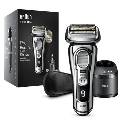 Braun Series 9 Pro 9466cc Rasoio Elettrico Barba, Testina Con Rifinitore ProLift 4+1, Stazione SmartCare 5 In 1, Batteria Da 60 Minuti, Uso Wet&Dry Per Barba Di 1, 3 E 7 Giorni