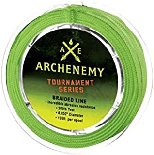 Archenemy Tournament Series Braided Bowfishing Line - Lime Green100ft 200lbs.
