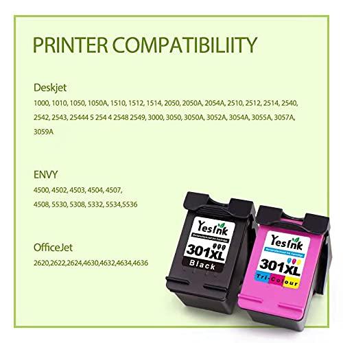 301XL Cartuchos de tinta reciclados para tinta HP 301 tinta impresora HP 301 para HP DeskJet 1000 Envy 4500 5530 OfficeJet 2620 4630 (1 negro, 1 Tricromia)