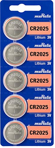 Murata CR2025 Battery DL2025 ECR2025 3V Lithium Coin Cell (5 Batteries)