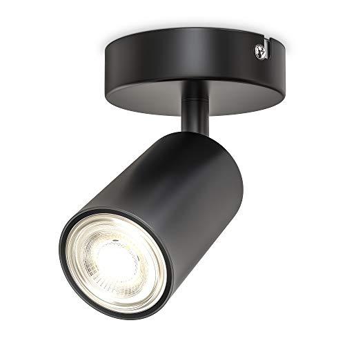 B.K.Licht I 1-flammige Spotlampe I schwenkbar I drehbar I GU10 I Schwarz I ohne Leuchtmittel
