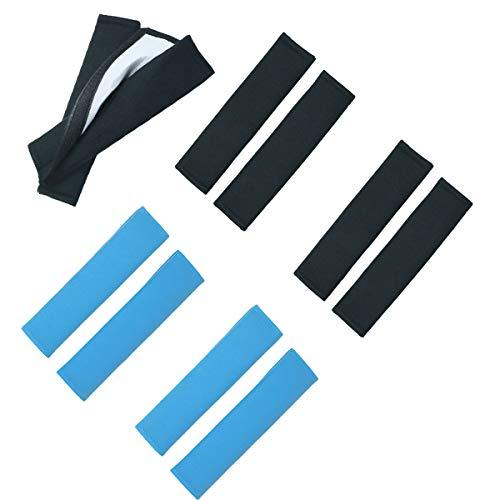 Almohadilla para Cinturón,DBAILY 8pcs Protección para Cinturón Coche Cojín para Cinturón de Seguridad para Niños y Adultos Cojín el Cinturón del Coche(Azul,Negro)