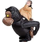 ZXJTX Disfraz de Fiesta Golpe del Traje Inflable Ride On Gorila Traje de Animales for Adultos Festival de Cosplay del Partido de Halloween Divertido Disfraz de Halloween
