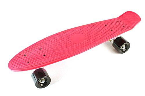 スケボー コンプリート ミニクルーザータイプ レッド/ホワイト/グリーン/パープル/ブルー/ブラック (Pink)