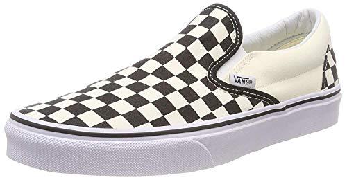 Vans Adult Slip-On Core Classics, Black and White , Men's 9