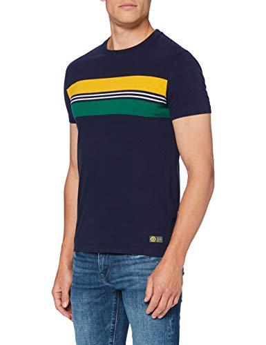 Superdry R&p Chestband tee Camiseta, Marina Nautica, S para Hombre