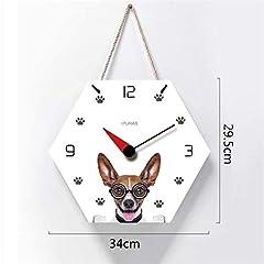 TIANYOU Wall Clock Polygon Bracket Clock Lanyard Clock Acrylic Silent Wall Clock Living Room Bedrooms Kitchen Bracket Clock 14 Inches Small Wall Clock #1