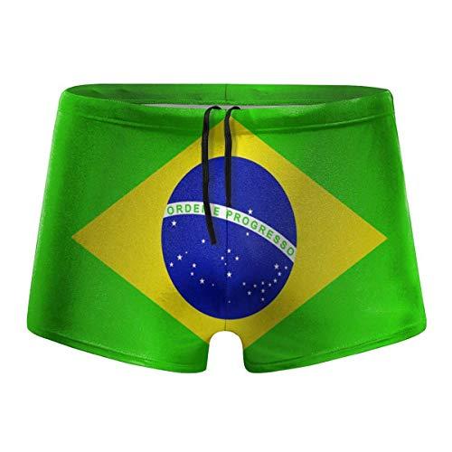 YYRR Bandera de Brasil Hombres Traje de baño Bikini Swim Brief Board Shorts Surf Boxer Trunks Trajes de baño