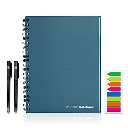 HBNNBV Diario A4 Borrable Mojado Reutilizable Escritura Inteligente Cuaderno Negro Impermeable Papel Auto-escaneo Auto-Scan Alambre de Regalo Personalizado Bonos en Espiral Suave Forrado