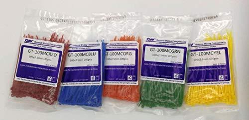 GW Kabelbinder-Technik GW Premium farbiges VSET-4 Kabelbinder Set