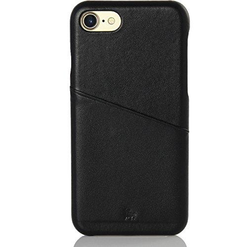 BULLAZO Menor Urban, hochwertige Handyhülle, Hülle, Backcover Leder mit Kartenfach, Kompatibel Apple iPhone SE 2020, 7 & 8 in schwarz