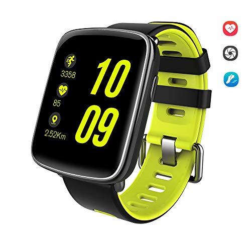 HQFC Smartwatch Reloj Inteligente con Pulsera Actividad IP67, Reloj Inteligente con Pulsómetro Inteligente Cronómetro Podómetro Monitor Rítmo Cardíaco Calorías iOS Andriod