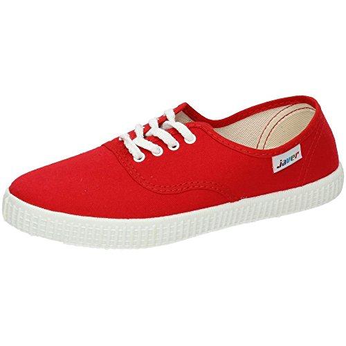 JAVER 60 Bambas Lonas Rojas Mujer Zapatillas Rojo 36