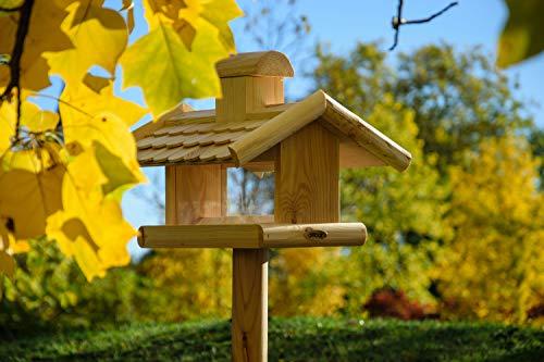 dobar 21277e Klassisches Vogelhaus groß aus Holz mit Futter-Silo, 38 x 38 x 30 cm - 3