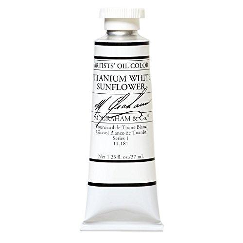 M. Graham & Co. Titanium Sunflower Oil Paint, White