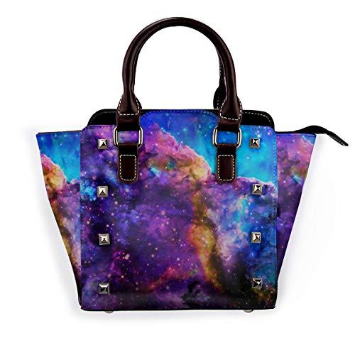 Indianer Indianer Southwest Damen Handtasche Hobos Leder Nieten Schultertasche Große Tote Bag für Arbeit, Rot - Milky Way Stellars Barber Cape - Größe: Einheitsgröße