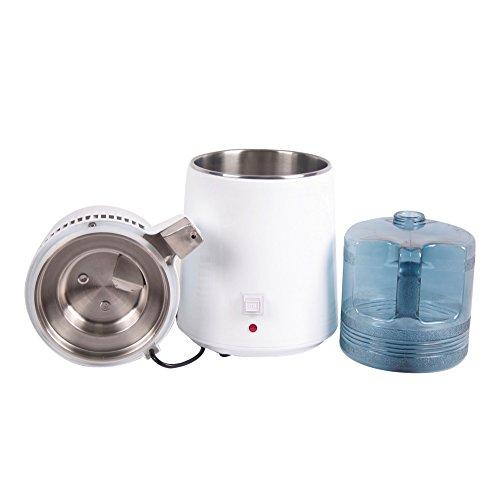 Pevor 4L Countertop Home Water Distiller Machine Stainless Steel Internal Pure Water Distiller Water Filter Distilled… 5