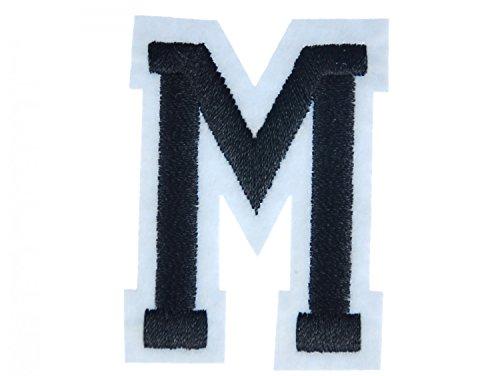 Miniblings Lettre initiales Alphabet ABC Tansfert Tissu Patch Lettre M Patch I Patches correctifs à Repasser Enfants pour Le Repassage