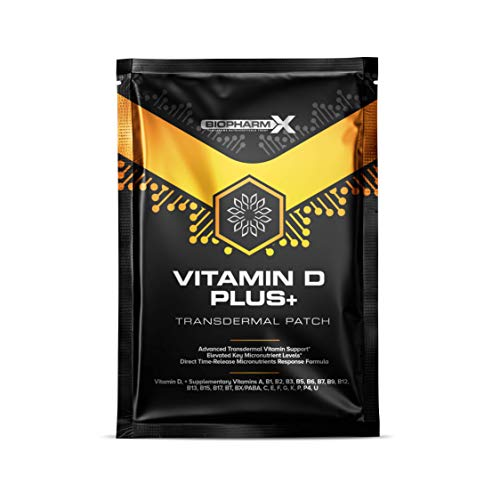 Vitamin D 4000iu Patch Plus+ (30 Day Supply) High Strength & Maximum Bioavailability Vitamin D3 - Significantly More Effective Than Vitamin D Tablets!